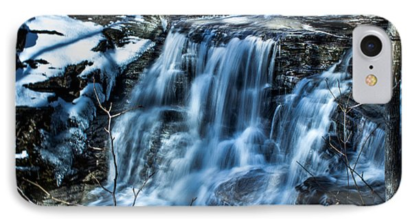 Snowy Waterfall Phone Case by Jahred Allen