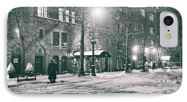 Snowy Winter Night - Sutton Place - New York City IPhone Case by Vivienne Gucwa