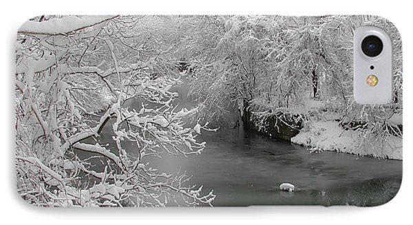 Snowy Wissahickon Creek Phone Case by Bill Cannon