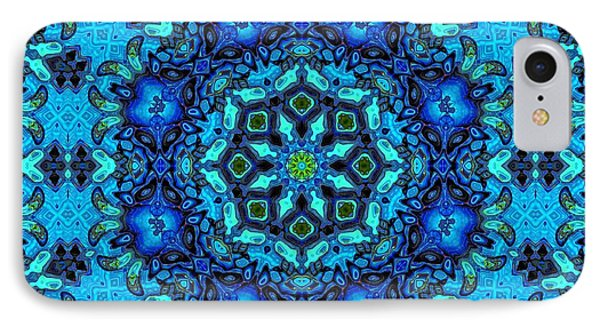 So Blue - 33 - Mandala IPhone Case by Aimelle