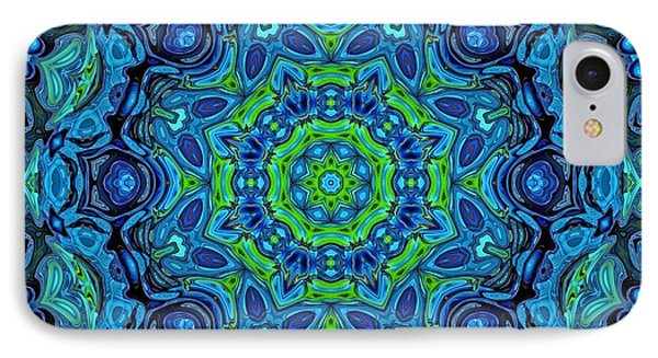 So Blue - 43 - Mandala IPhone Case by Aimelle