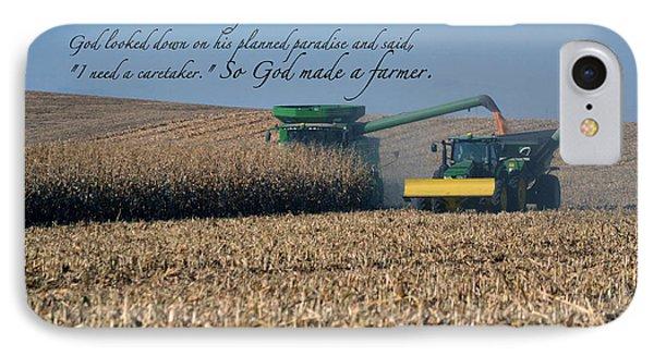 So God Made A Farmer IPhone Case