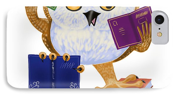IPhone Case featuring the painting So Many Books So Little Time by Leena Pekkalainen