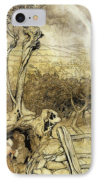 So Nobody Can Quite Explain Exactly Where The Rainbows End Phone Case by Arthur Rackham