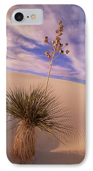 Soaptree Yucca  On Dune White Sands IPhone Case by