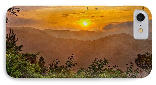 Soaring At Sunrise - Blue Ridge Parkway II Phone Case by Dan Carmichael