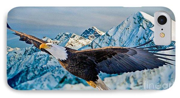 Soaring Bald Eagle Phone Case by Gary Keesler