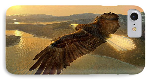Soaring Eagle Phone Case by Ray Downing