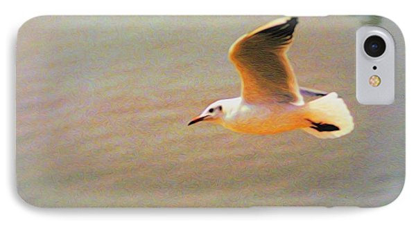 IPhone Case featuring the photograph Soaring Gull by Dennis Lundell