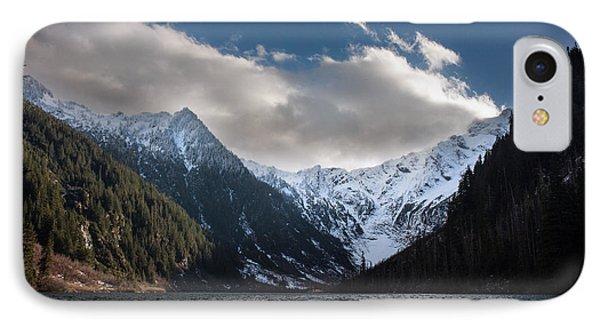 Soaring Mountain Lake Phone Case by Mike Reid