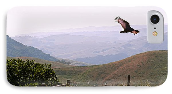 Soaring Over California - Condor In Morro Bay Coastal Hills Phone Case by Artist and Photographer Laura Wrede