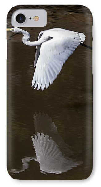 IPhone Case featuring the photograph Soaring Reflection by Paula Porterfield-Izzo