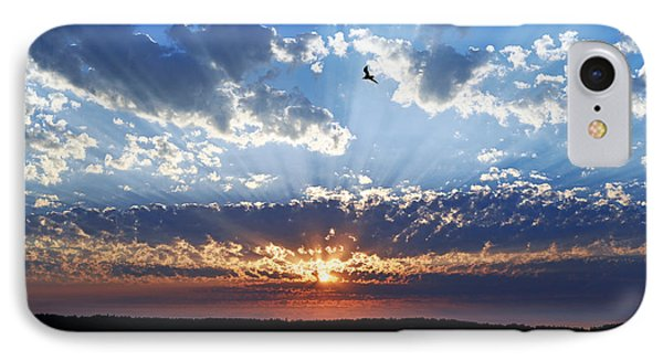 IPhone Case featuring the photograph Soaring Sunset by Anthony Baatz
