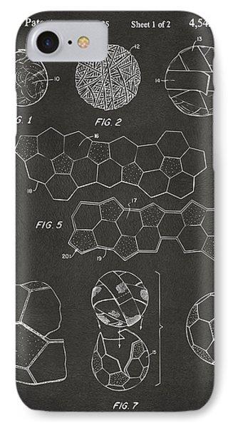 Soccer Ball Construction Artwork - Gray IPhone Case