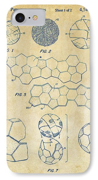 Soccer Ball Construction Artwork - Vintage IPhone Case