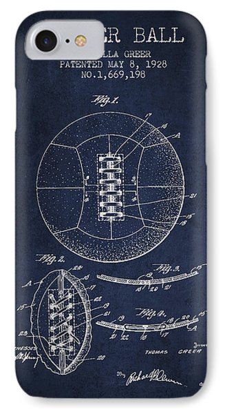 Soccer Ball Patent From 1928 IPhone Case by Aged Pixel