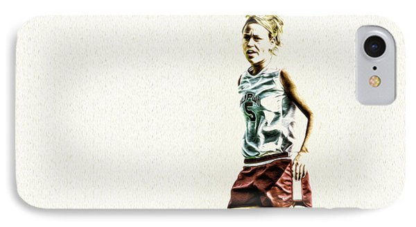 Soccer Iupui Painted Digitally IPhone Case by David Haskett