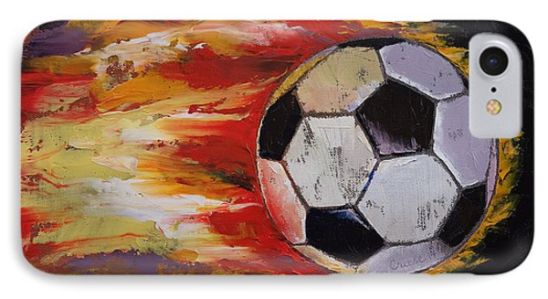 Soccer IPhone Case by Michael Creese