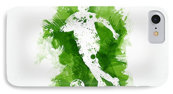 Soccer Player IPhone Case by Aged Pixel