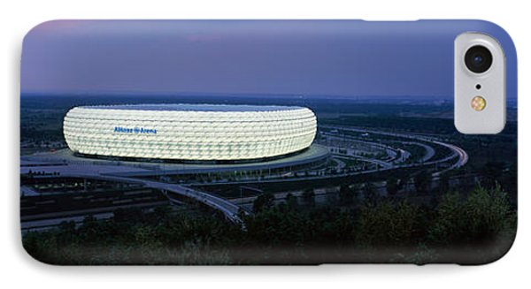 Soccer Stadium Lit Up At Nigh, Allianz IPhone Case by Panoramic Images