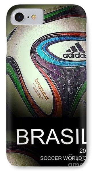 Soccer World Cup Poster 1 IPhone Case by Andrew Drozdowicz