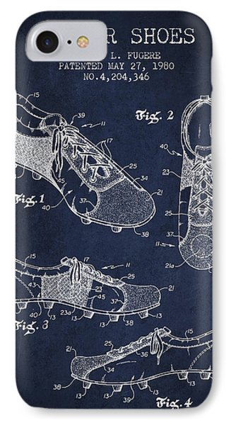 Soccershoe Patent From 1980 Phone Case by Aged Pixel