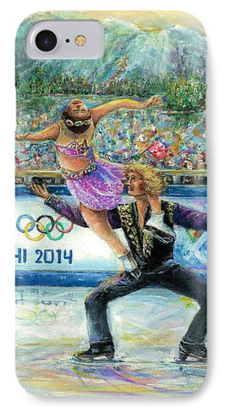 Sochi 2014 - Ice Dancing IPhone Case by Bernadette Krupa