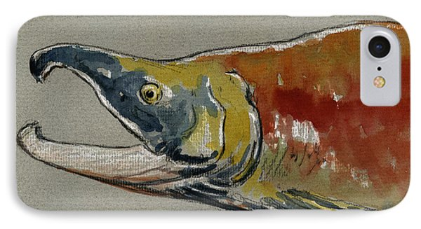 Sockeye Salmon Head Study IPhone 7 Case by Juan  Bosco
