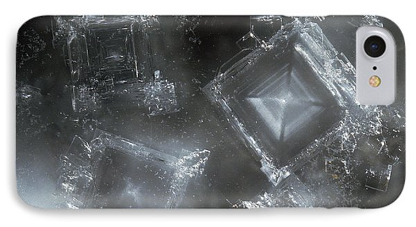 Sodium Hydroxide Crystals Phone Case by Charles D Winters