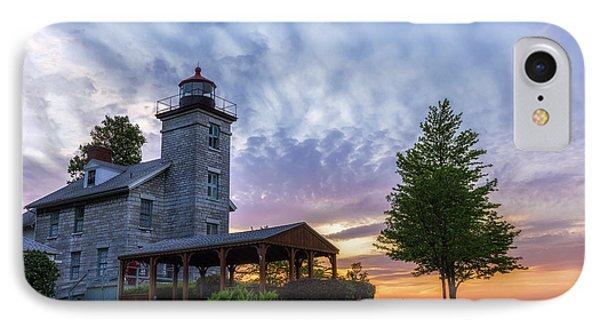Sodus Bay Lighthouse IPhone Case by Mark Papke
