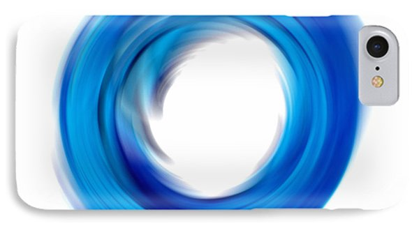 Soft Blue Enso - Abstract Art By Sharon Cummings IPhone Case by Sharon Cummings