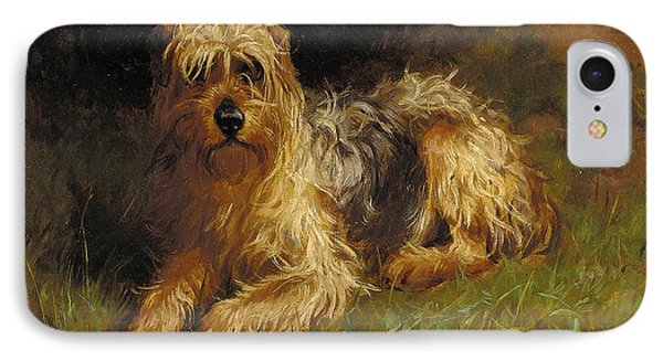Soft Coated Wheaten Terrier  Phone Case by Alfred Duke