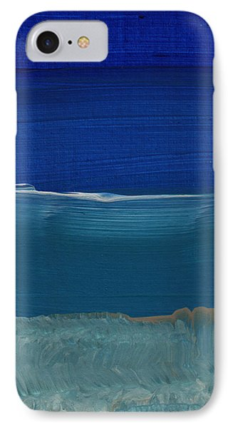 Soft Crashing Waves- Abstract Landscape IPhone 7 Case by Linda Woods