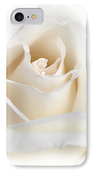 Soft Ivory Rose Flower Phone Case by Jennie Marie Schell