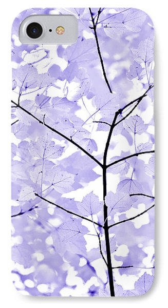Soft Lavender Leaves Melody Phone Case by Jennie Marie Schell