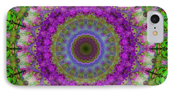 Soft Light - Kaleidoscope Mandala By Sharon Cummings IPhone Case by Sharon Cummings