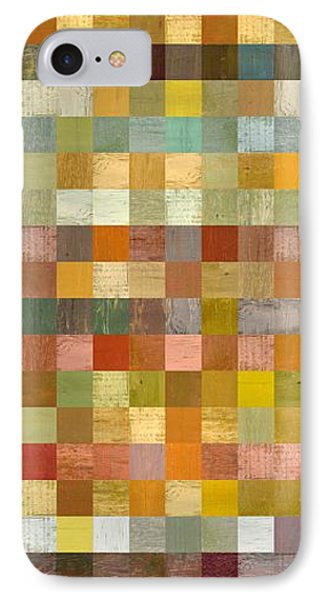Soft Palette Rustic Wood Series Collage L Phone Case by Michelle Calkins