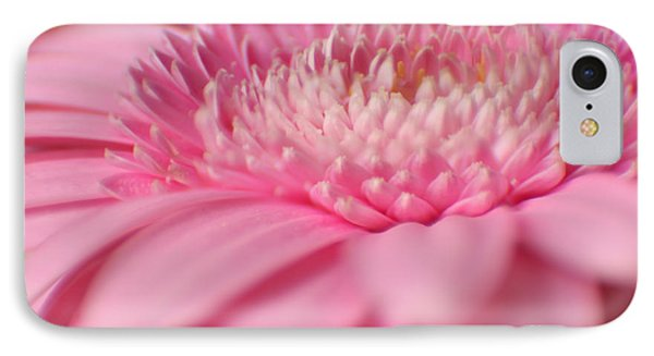 IPhone Case featuring the photograph Soft Pink Gerbera Daisy by Eden Baed