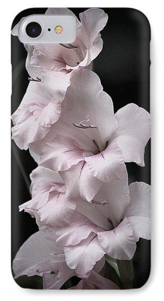 Soft Pink Gladiolas L IPhone Case