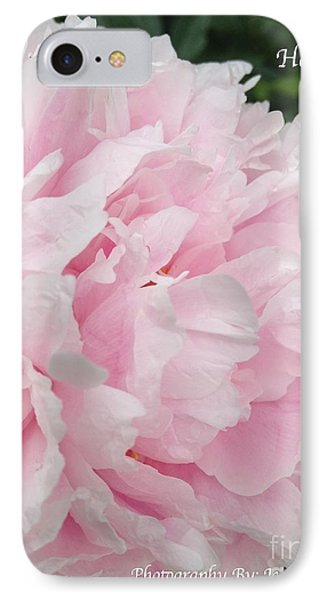 IPhone Case featuring the digital art Soft Pink Peony by Jeannie Rhode