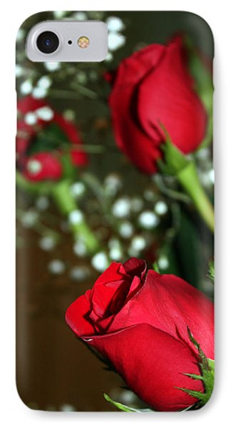 Soft Roses IPhone Case by Karen Nicholson