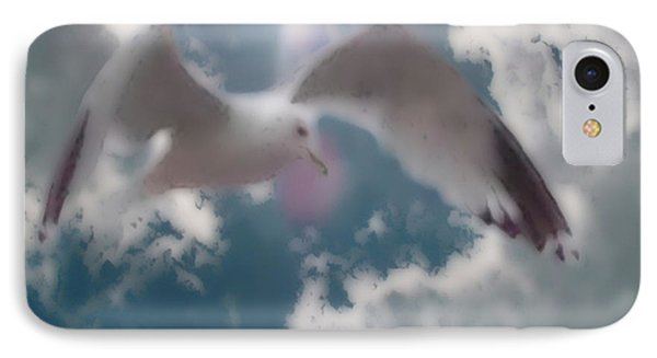 Soft Touch Seagull Fly  IPhone Case by Debra     Vatalaro