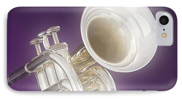 Soft Trumpet On Purple Phone Case by M K  Miller