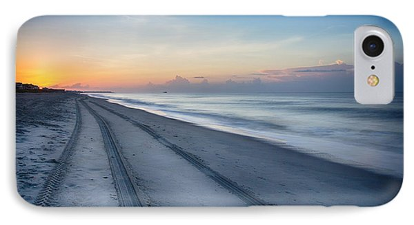 IPhone Case featuring the photograph Soft Waves Early Morning  by Alan Raasch