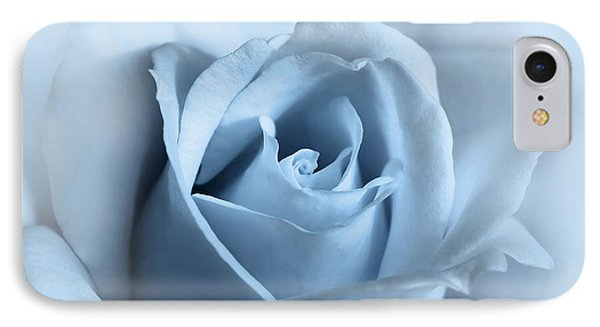 Softness Of A Blue Rose Flower Phone Case by Jennie Marie Schell