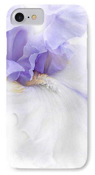 Softness Of A Lavender Iris Flower Phone Case by Jennie Marie Schell