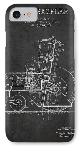 Soil Sampler Machine Patent From 1965 - Dark IPhone Case by Aged Pixel