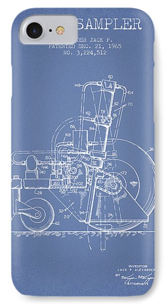 Soil Sampler Machine Patent From 1965 - Light Blue IPhone Case by Aged Pixel