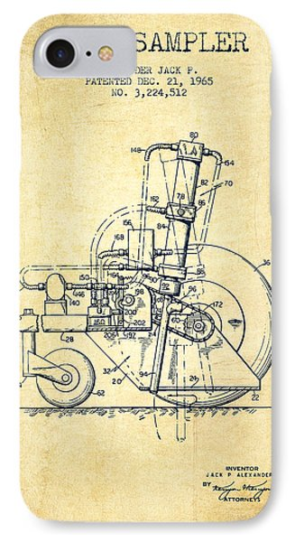 Soil Sampler Machine Patent From 1965 - Vintage IPhone Case by Aged Pixel