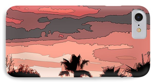 IPhone Case featuring the digital art Solana Beach Sunset 1 by Kirt Tisdale
